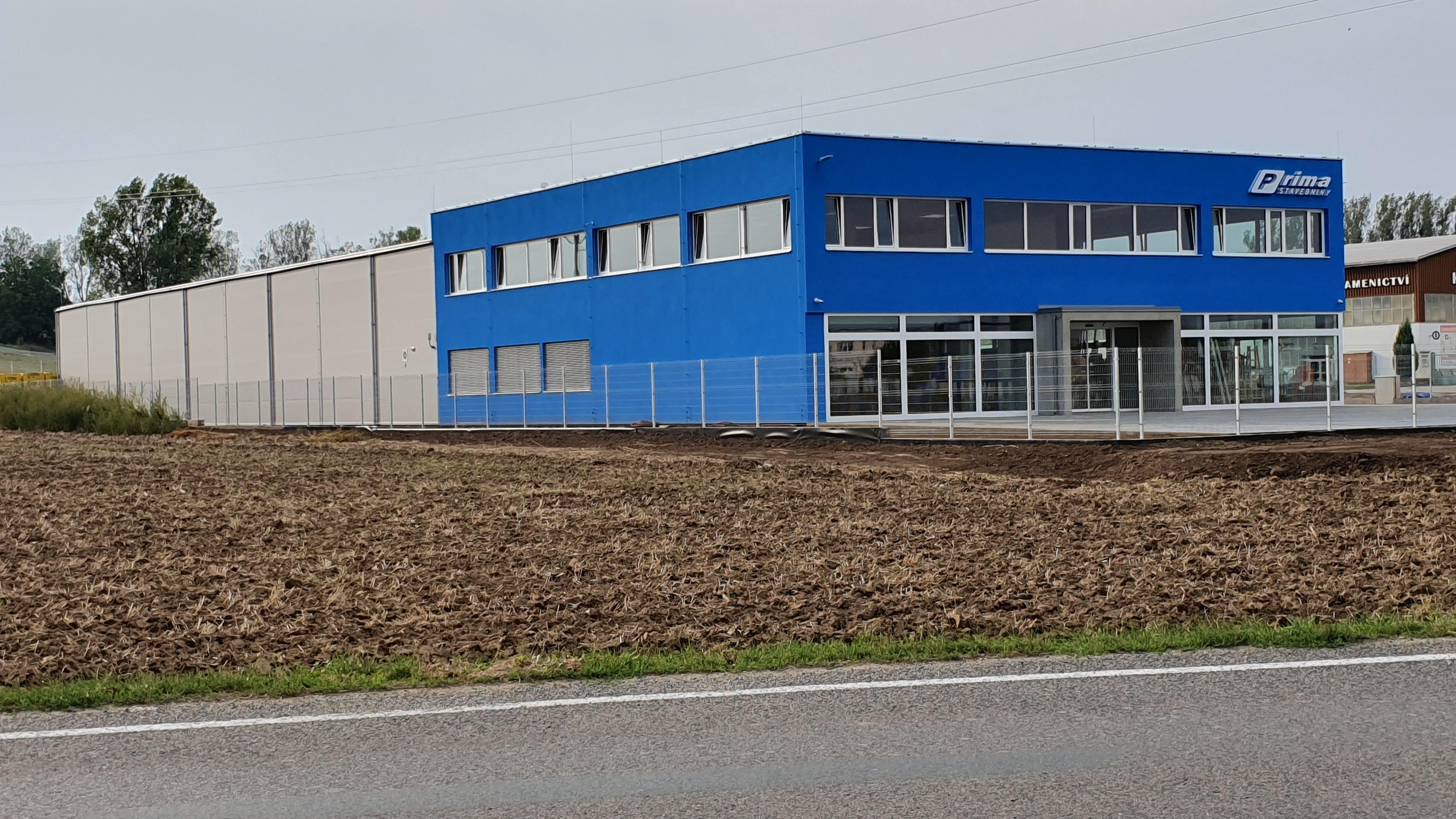 Montovaná hala pro PRIMA stavebniny