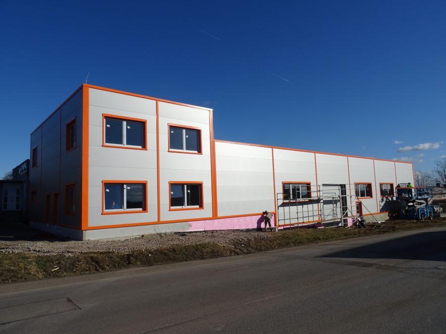 Montovaná hala pro Malba, výrobní družstvo