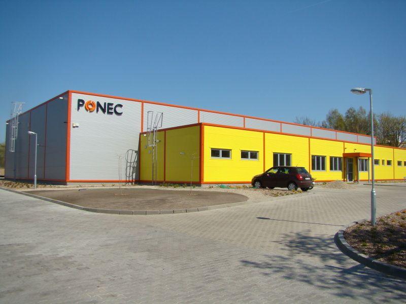 Montovaná hala pro PONEC s.r.o.